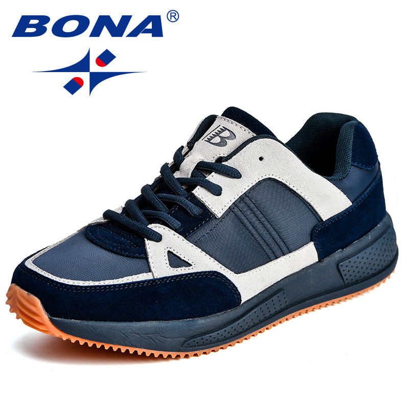 BONA New Arrival Classics Style Men Running Shoes Suede Mesh Men Athletic Shoes Outdoor Jogging Shoes Comfortable Free Shipping