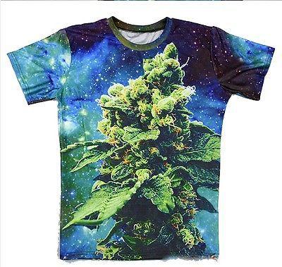 178970a60264 Summer style Harajuku T-shirts Men Women BUD coral weed galaxy 3D Printed  Tops t shirt size S-5XL camisetas Drop Shipping