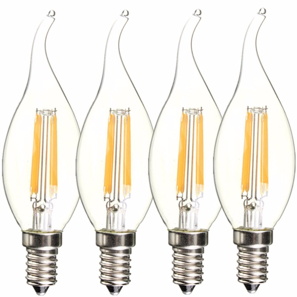 Lightinbox  Warm White Colour COB Not Dimmable Edison Filament Candle LED  Replacement for Halogen bulb