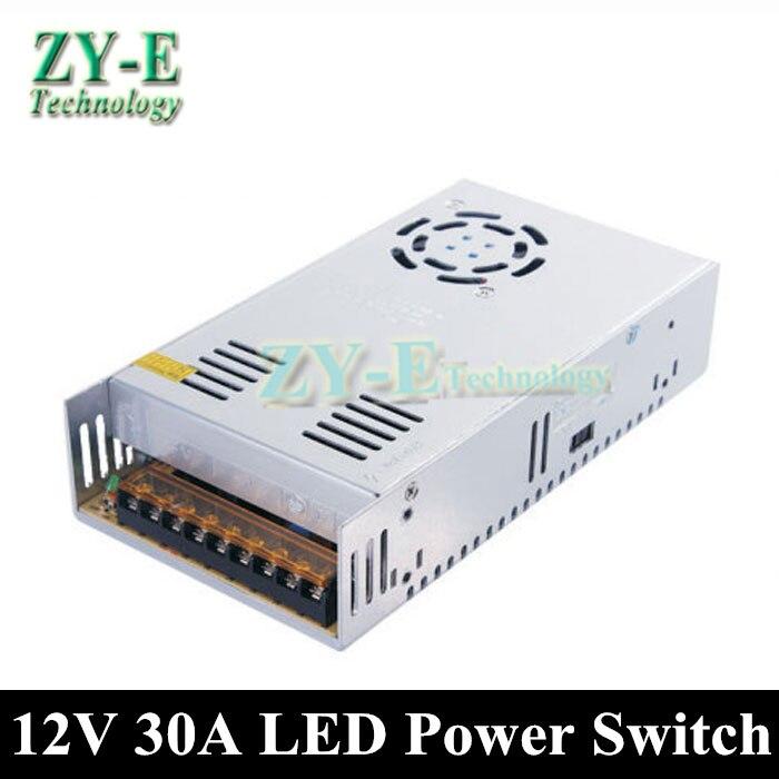 1X haute qualité 12 v 30A 360 W convertisseur DC adaptateur LED transformateur commutateur LED bande d'affichage et panneau d'affichage adaptateur d'alimentation