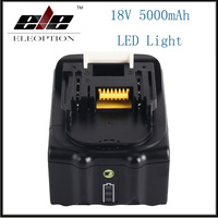 18V 5000mAh Li ion Power tools Replacement battery For Makita BL1815 BL1850 BL1840 BL1830 Rechargeable batteria with LED Light