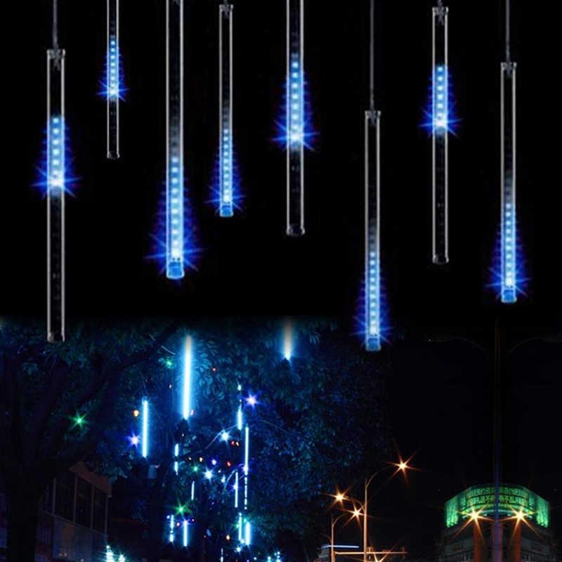 Водонепроницаемый 50 см 8 трубка праздник Метеоритный дождь Дождь светодиодный струнные светильники для внутреннего открытый сады Рождество Christimas вечерние Декор дерево