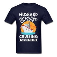 Men T Shirt One Piece Tshirt Husband and Wife Cruising Partners Life 100% Cotton Sweatshirts Women Top T-shirts For Honeymoon