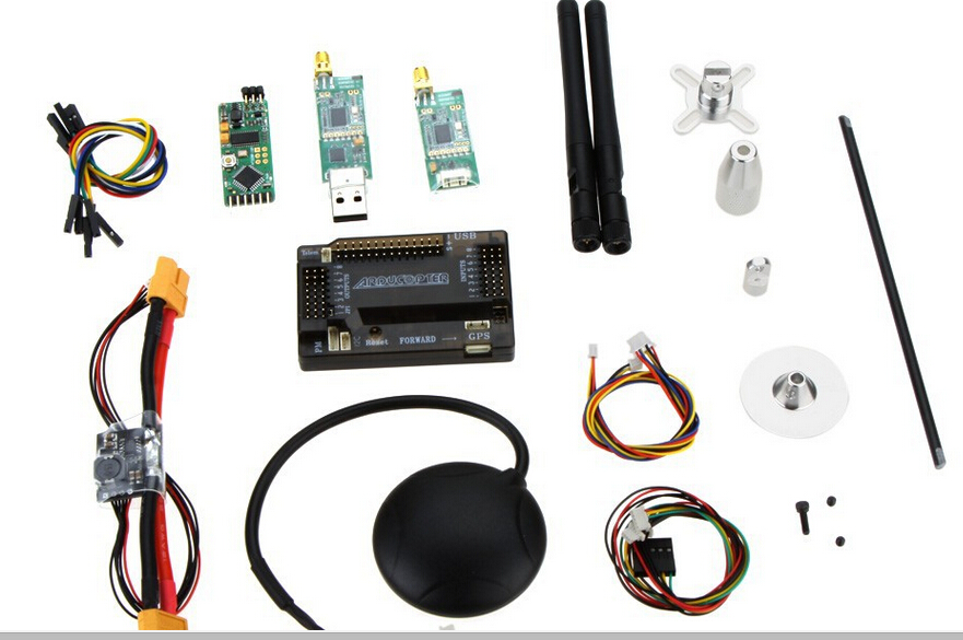 free shipping factory APM2.6 ArduPilot Mega 2.6 APM+Neo 6m GPS +Power Module+Minim OSD+915 33Mhz 3DR Telemetry for diy drone uav minimosd on screen display osd board apm telemetry to apm 1 and apm 2