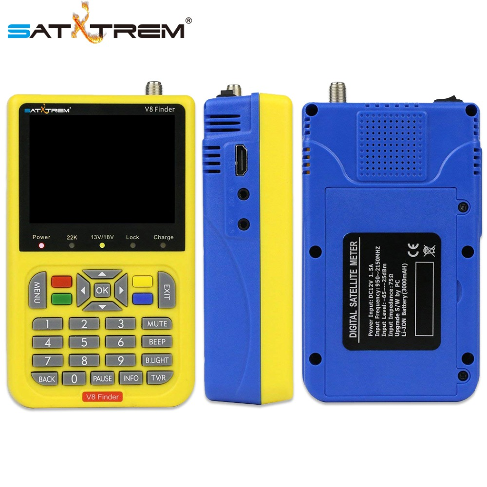 Satxtrem V8 Finder Sat Statellite Finder DVB S2 HD Digital Satellite Signal Meter Outdoor Signal TV