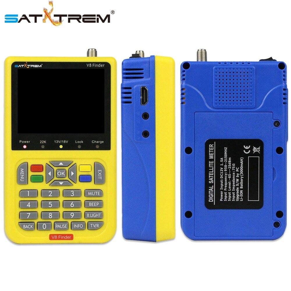 US $54 99 21% OFF|Satxtrem V8 Finder Sat Statellite Finder DVB S2 HD  Digital Satellite Signal Meter Outdoor Signal TV Antenna Detector Air  Dish-in