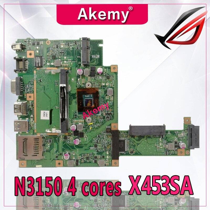 Akemy X453SAノートパソコンのマザーボードX453S X453SA X453 F453Sメインボードテストok 100% N3150 4 コア