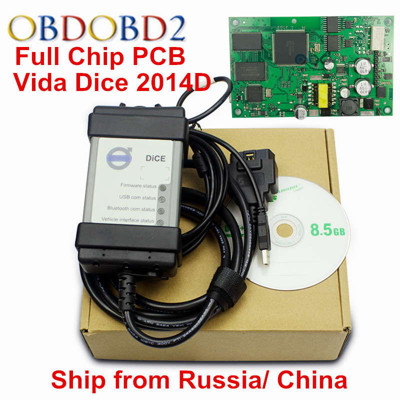 Top Rated For Volvo Vida Dice Diagnostic Tool Dice Pro 2014D Auto OBD2 Scanner For Volvo Cars Support Firmware Update Self Test