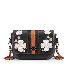 2016 new design retro bag handmade embroidery flower portable girls single shoulder bag women bag free shipping