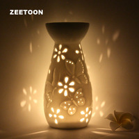 Japanese Style White Ceramic Essential Oil Diffuser Candle Aroma Incense Burner Furnace Yoga SPA Aromatherapy Lamp