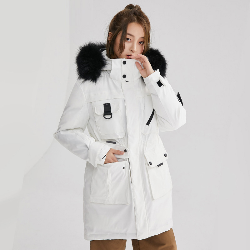 Winter Long Thicken   Down     Coats   Fashion Big Raccoon Fur Collar Hooded   Down   Jackets Female Casual   Down   Parkas Outwears YP2108