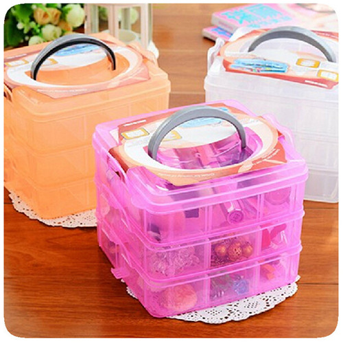 1pc lattice three layer storage box box Lego toy box detachable oversized portable cosmetic box-in Storage Boxes u0026 Bins from Home u0026 Garden on Aliexpress.com ...  sc 1 st  AliExpress.com & 1pc lattice three layer storage box box Lego toy box detachable ...