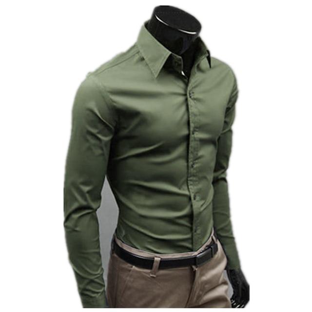 elegante para traje Hombres fit hombre slim de casual moda larga manga  social camisas Camisas camisa EgcgPwqX 01da77ce701