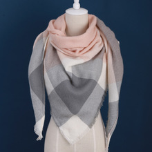 cashmere design triangle scarf plaid fashion warm in winter shawl for women pashmina shawl m8062