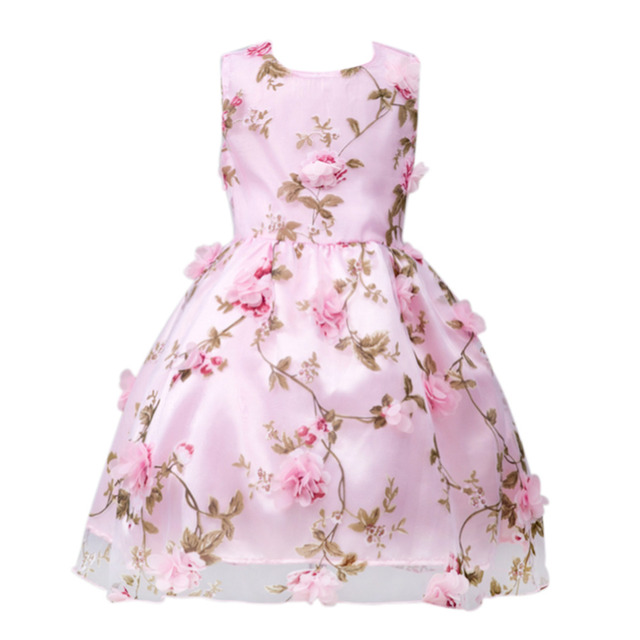 18e76a178f9d5 US $9.88 10% OFF 2018 Girl Party Dress Christmas Girl Dresses Summer Formal  Girl Flower Gir Dresses Junior Girls Prom Gown Dresses Baby Clothes-in ...