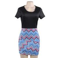 New Sexy Women Dress Elegant Stitching Design Dress Spring SummerMujer Elegant Vestido Code