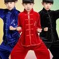 Girls Boys Chinese Shadowboxing Taiji Wushu Martial Arts Performance Dance Costume Dancewear Clothes Dancing Outfits Tops pants