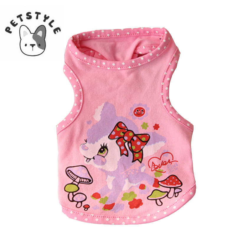 Puppy Shirt Pet Warm Clothes Cute Cartoon dot Animal Printing Vest Cat Costume Cartoon Dog Vest Hot Fashion New Arrival