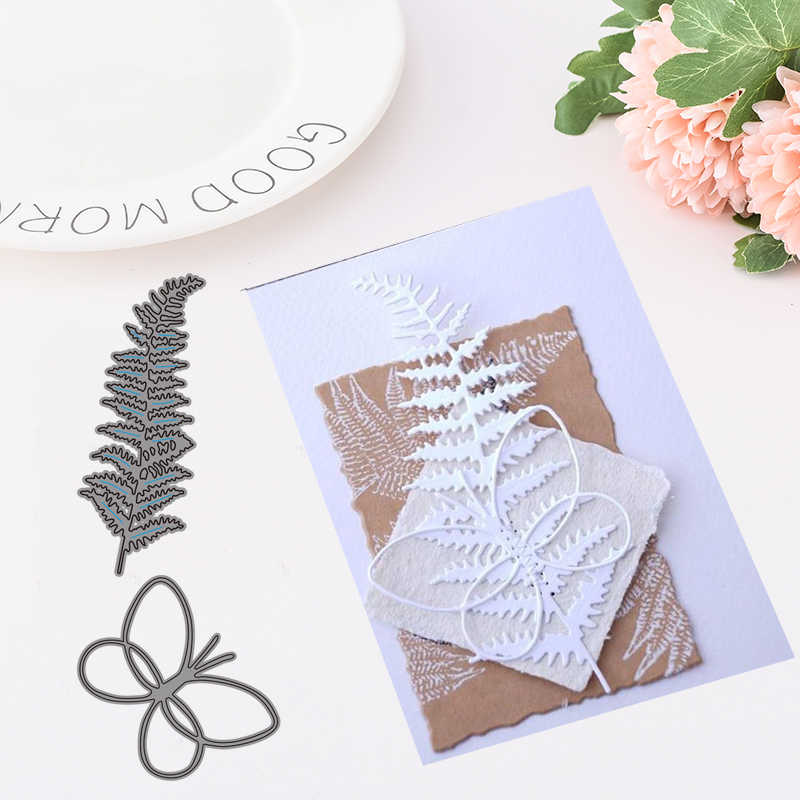 2019 New Arrival CH Beautiful Leaves and butterfly Metal Cutting Dies and Stamp For Scrapbooking DIY Cards Album Decoration
