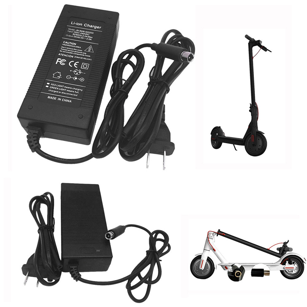 42V 2A LED Battery Charger Charging for Xiaomi M365 Segway Ninebot ES1 ES2 ES4 US EU Plug #T09