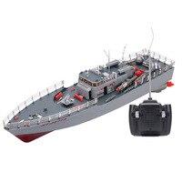 HT-2877A RC Torpille Bateau 1/115 4CH Grand RC Bateau Militaire Bateau Électrique modèle de Navire de guerre Aquatiques hors-bord Navire de la Marine Machine jouet
