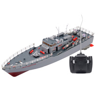 HT 2877A RC Torpedo Boat 1/115 4CH Large RC Boat Military Ship Electric Warship model Aquatic speedboat Naval Vessel Machine toy