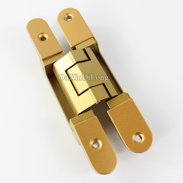 HOT 2PCS 3D Adjustable Invisible Door Hinges Hidden Concealed Heavy Duty  Door Caravan Worktops Hinges Furniture