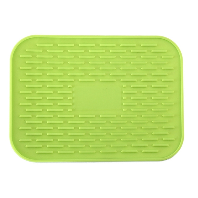 US $2.96 |Kitchen Sink Mat Dishes Cup Dry Mat Rack Silicone Pot Holder Heat  Resistant Can Opener Non slip Mat Table Placemat Coaster-in Mats & Pads ...