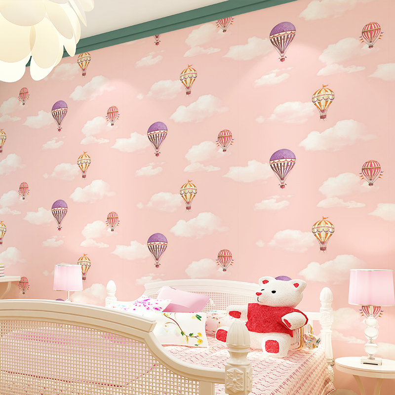 Children Room Wall Papers Home Decor Blue SKy White Cloud Balloon Wallpaper Roll for Kids Boy Girls Bedroom Walls Papel Pintado real photo wallpaper papel pintado paysota children room non woven wall paper cartoon balloon girl boy bedroom background