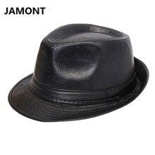 Autumn Winter Men Women Classic PU Leather Fedora TOP Hat British Style Panama BOWLER HAT Cowboy Gentleman Casual Top Hat