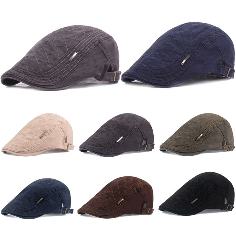 2019 Newest Hot Men Summer Gatsby Ivy Hat Golf Driving Sun Cap Flat Beret Cabbie Driver Newsboy