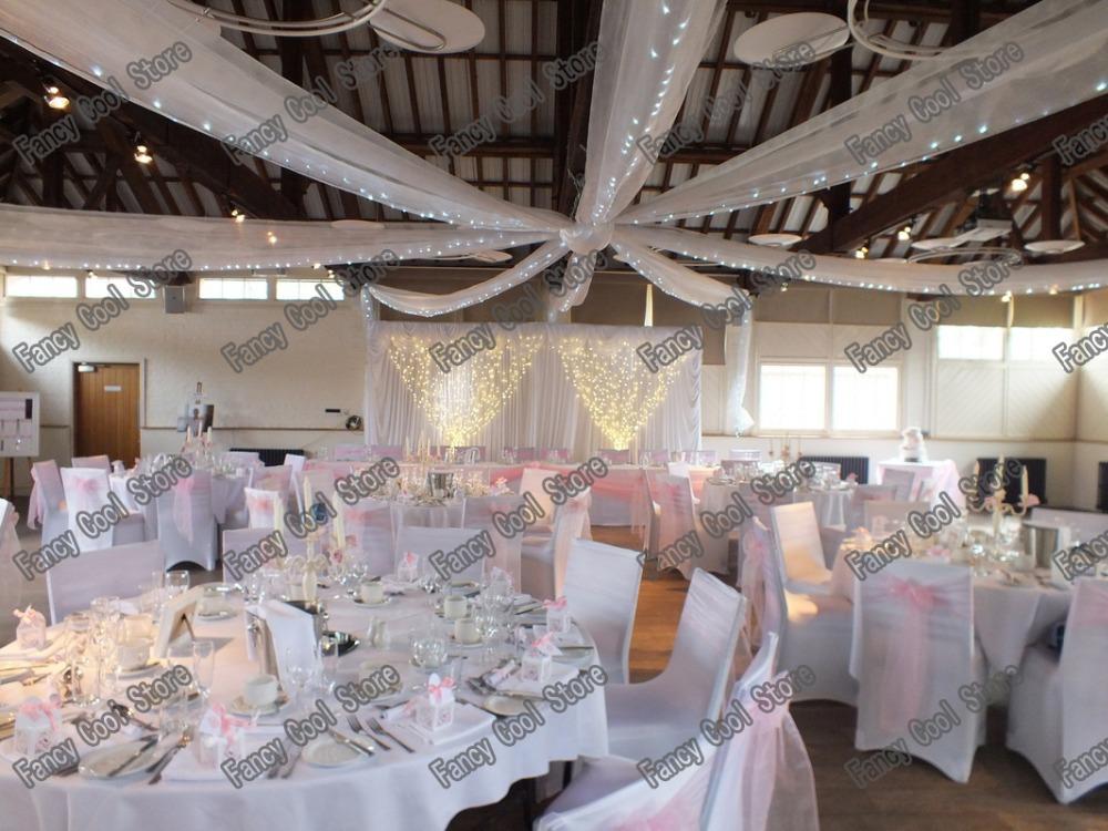 12 pices toit plafond drap de tentures canopy pour dcoration de mariage tissu 07 m - Drap Mariage Plafond
