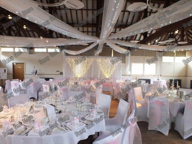 12 Pieces Toit Plafond Drape De Tentures Canopy Pour Decoration De