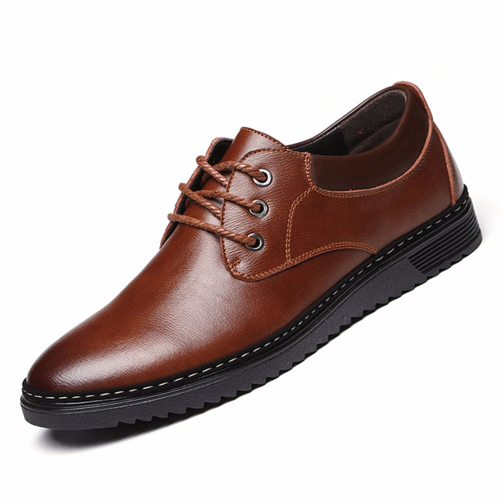 2016 Classic Men Flats Genuine Leather Handmade Men Oxfords Shoes Casual Chaussure Homme Zapatos