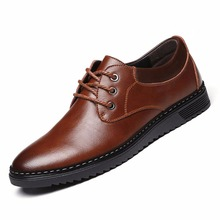 2017 Classic Men Flats Leather Handmade Casual Shoes Fashion Chaussure Homme Zapatos Hombres Lace-Up Male Shoes 3115