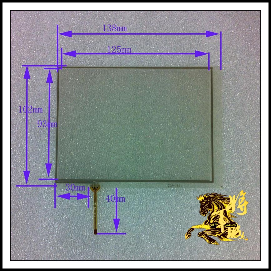 GENCTY For 5.7 inch four-wire resistive touch screen 138 * 102 W-X