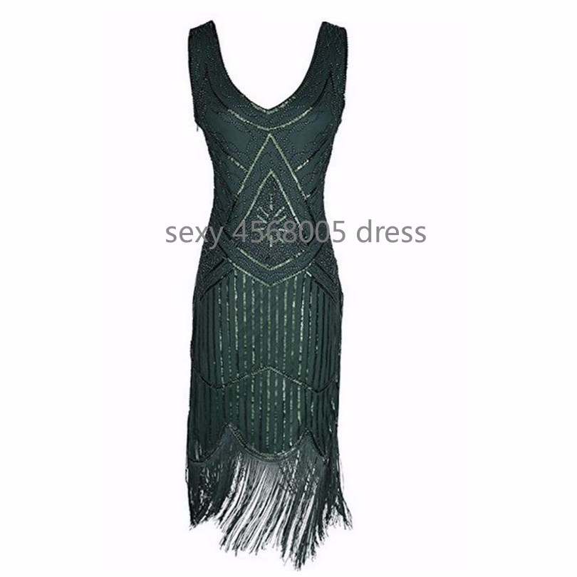 056762dad03a7 2018 Newest Women's 1920s Vintage Sequin Full Fringed Deco Inspired Flapper  Dress Roaring 20s Great Gatsby