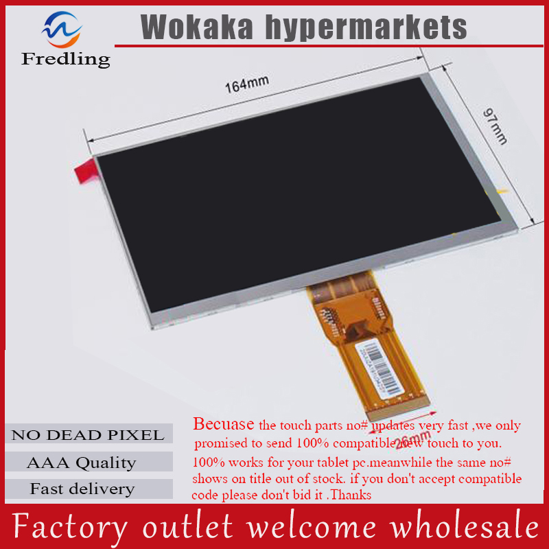 New 7 inch TABLET Explay Hit 3G lcd screen 163*97mm 50pin 1024*600 LCD Display Screen Panel чехол флип кейс для смартфона explay hit кожа чёрный page 7