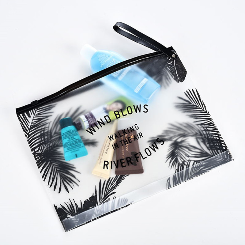 Fashion Women Clear Cosmetic Bags PVC Toiletry Bags Travel Organizer Necessary Beauty Case Makeup Bag Ideal Gift for Travel