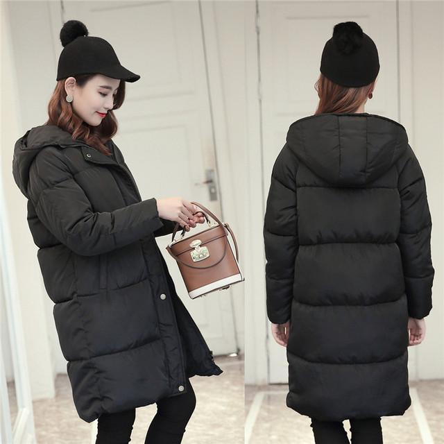 Jaqueta de Inverno das mulheres Com Capuz de Algodão-Acolchoado Casaco de Algodão de Médio-Longo Plus Size Jaqueta Feminina Slim Senhoras jaquetas Casacos de Presente