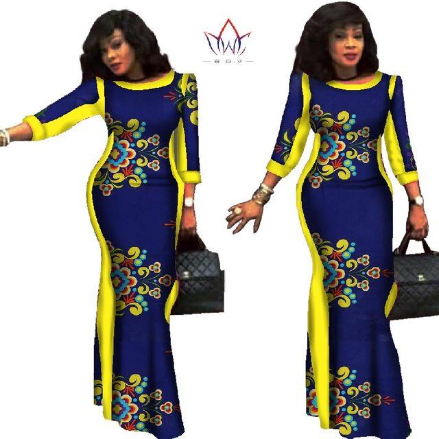 Party dresses 2019 New style African Dresses for Women Bazin Riche Plus  Size African Wax Print 100% Cotton Dresses WY304 c6e24c2fb8e9