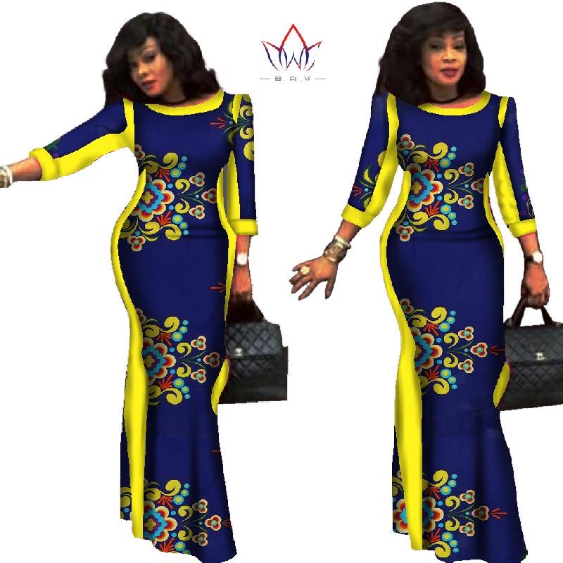 86fc2e9e85d 2019 100 Fête Robe Robes Grande Africain Bazin 8 22 Riche Style En 20 D  ...