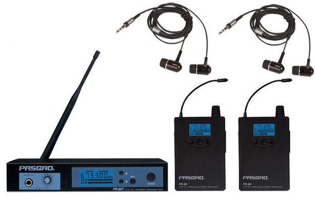 Pasgao PR80 stereo wireless in ear monitoring system + 2 receivers NEW/ Wireless IEM радиомикрофон pasgao paw110 pah315 diversity