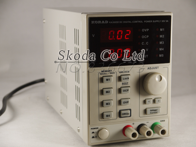 ФОТО KA3005D 30V 5A high precision Adjustable Digital DC Power Supply programmable DC Power Supply 0.01V 0.001A for research Lab