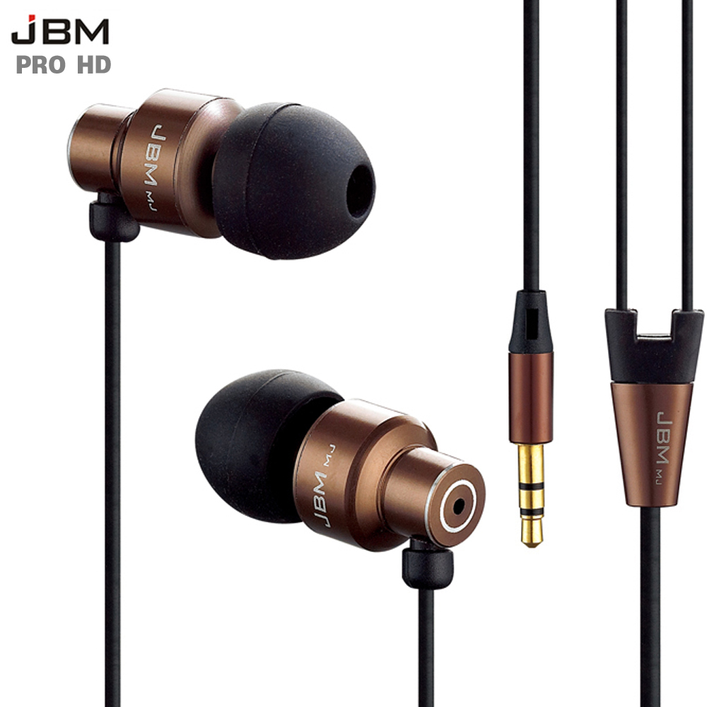 Asli Stereo Bass earphone Headphone Logam 3.5mm Earbud headset handsfree untuk semua Ponsel mp3 Player