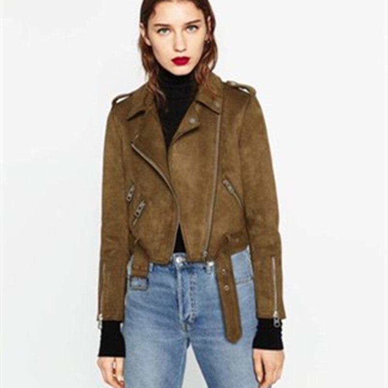 2018 New Autumn Faux Leather Women Coat Winter Motorcycle Style Female Crop Outwear Jacket Multi-color zipper Women Top