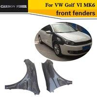 Carbon Fiber door fender front fenders for VW Golf VI MK6 2010 2013