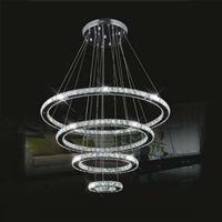 LightInTheBox LED Crystal Chandelier Lihting Transparent Crystal Round 4 Rings 20CM Plus 40CM Plus 60CM Plus