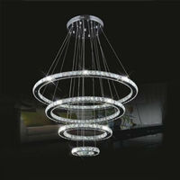 LightInTheBox LED Crystal Chandelier Lihting Transparent Crystal Round 4 Rings 20CM Plus 40CM Plus 60CM Plus