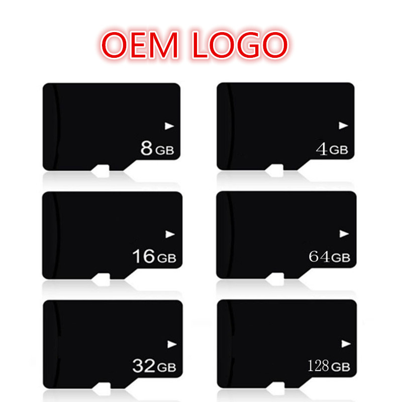 OEM LOGO!!! Real Capacity!!! 100PCS A Lot 4GB 8GB 16GB 32GB 64GB 128GB TF Card Micro SD SDHC TF Card Memory Card For Cellphones